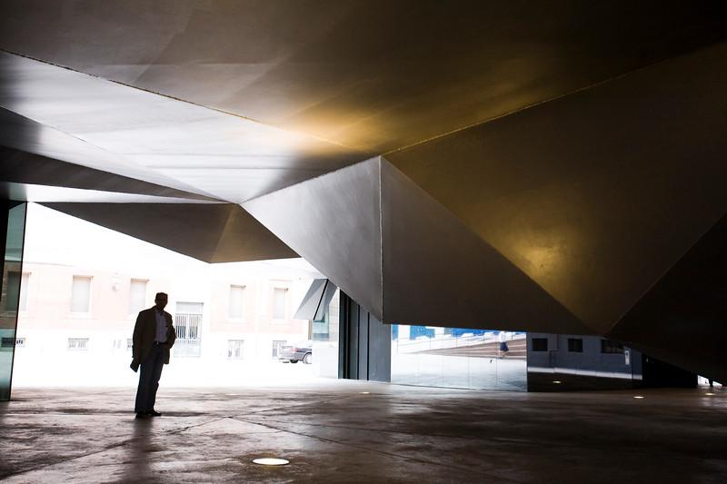Steel Ceiling of CaixaForum Plaza, Madrid, Spain