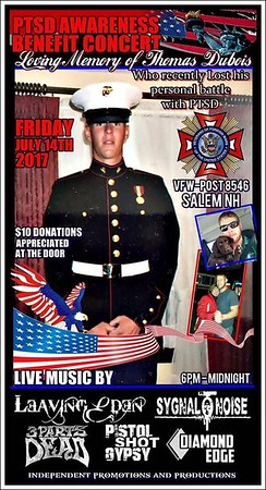 PTSD Awareness Concert in Loving Memory of Thomas Dubois July 2017