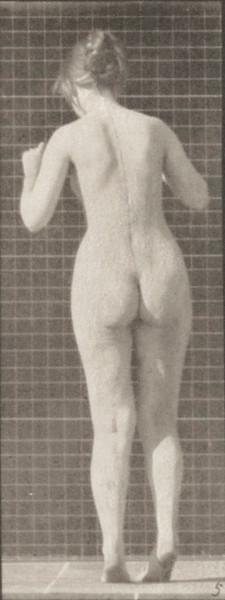 Nude woman dancing a waltz