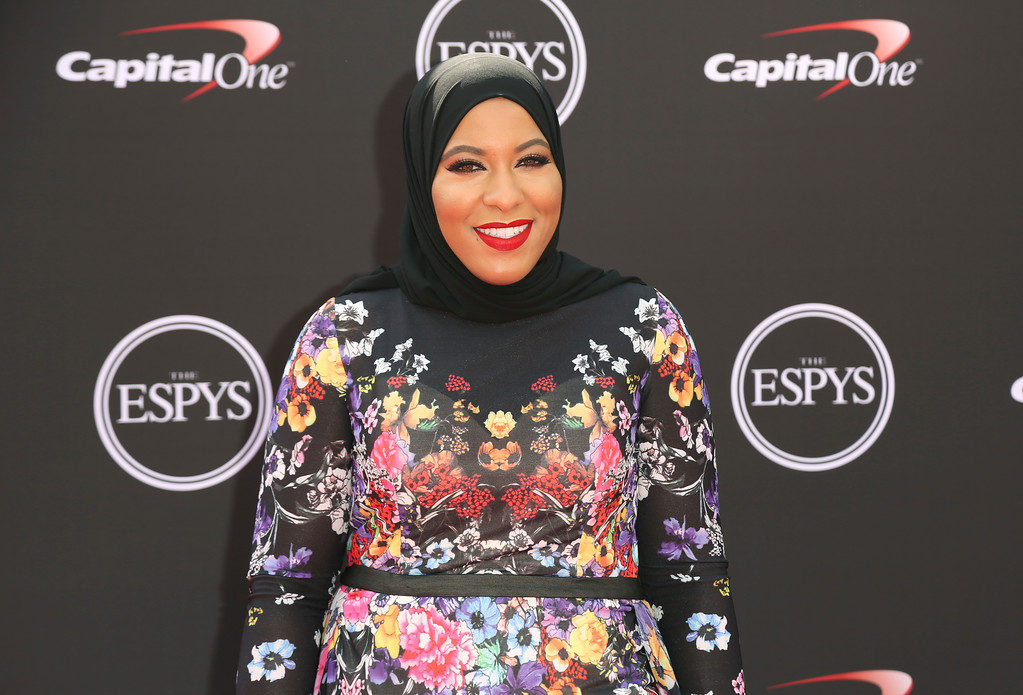 . Fencer Ibtihaj Muhammad arrives at the ESPY Awards at Microsoft Theater on Wednesday, July 18, 2018, in Los Angeles. (Photo by Willy Sanjuan/Invision/AP)