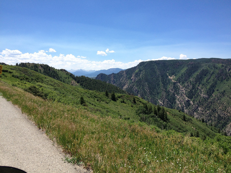 6/27 - Black Canyon of the Gunnison...CO92 going east/south. The road was beautiful...