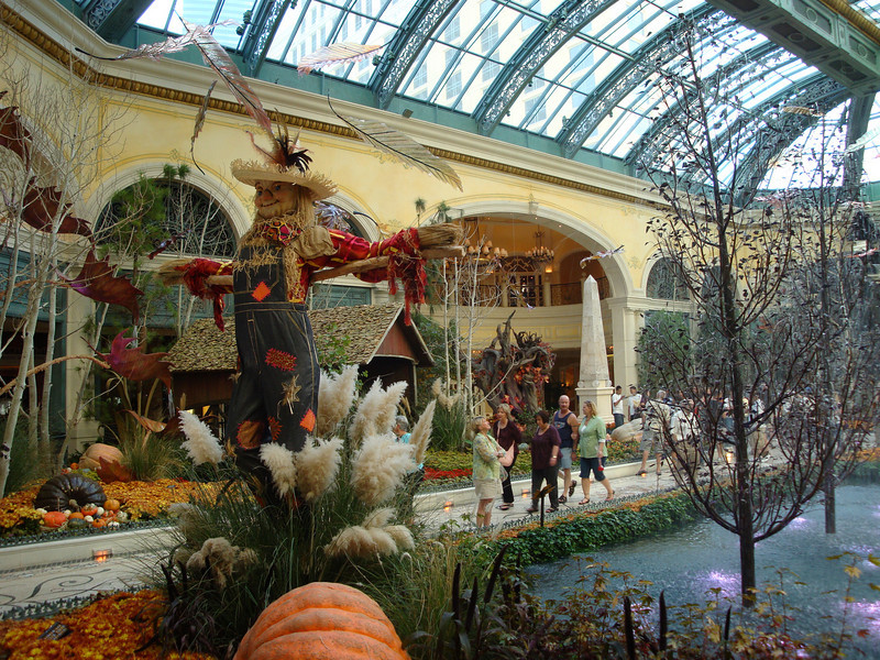 Decorated for the fall season. The Bellagio.