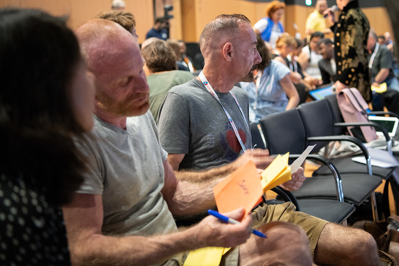 22nd International AIDS Conference (AIDS 2018) Amsterdam, Netherlands.   Copyright: Steve Forrest/Workers' Photos/ IAS  Photo shows: HIV Cure, Research with the Community Workshop.