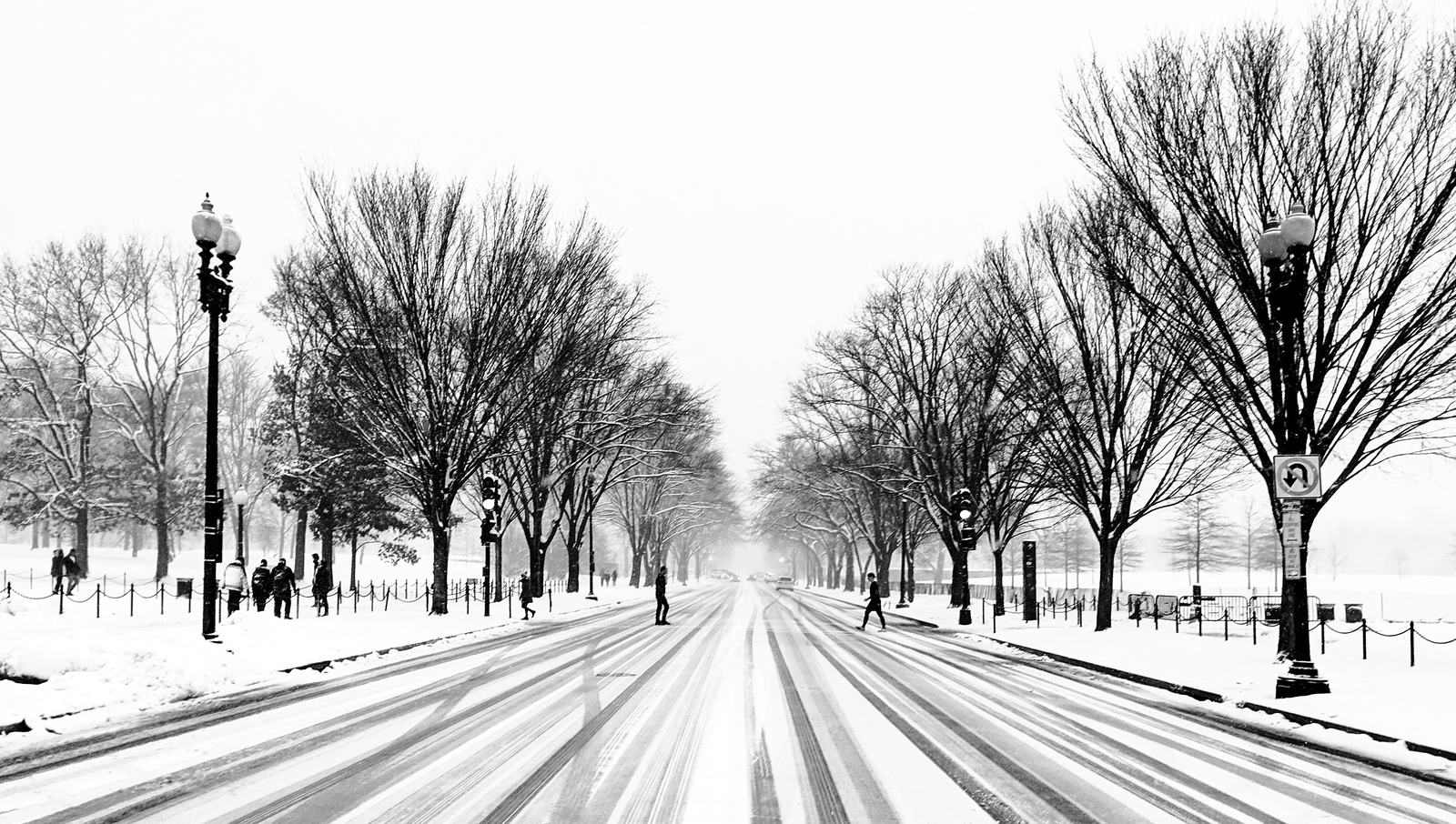 Washington DC in the Snow
