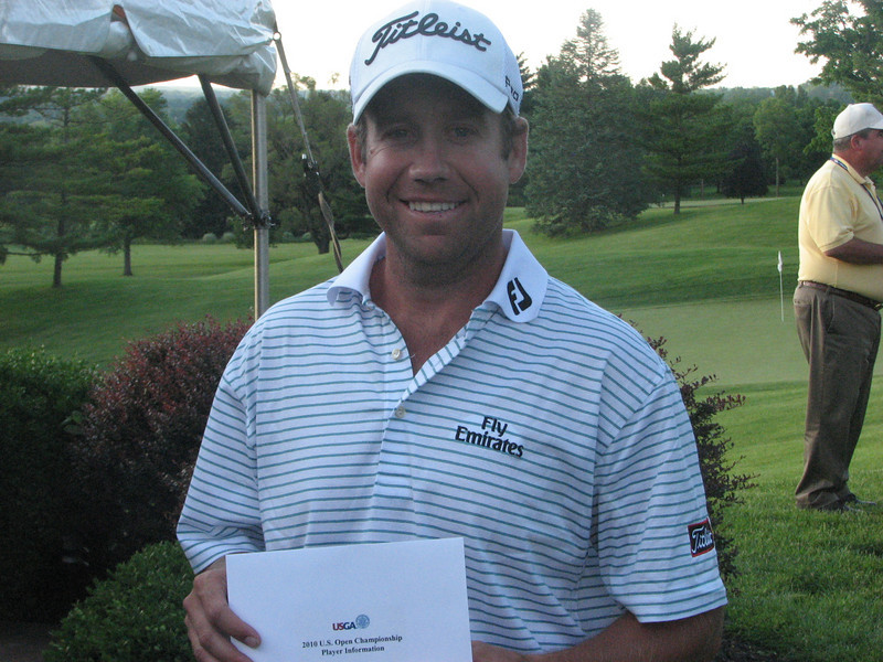 Erik Compton, upon accepting his Player Information, He was the last qualifier out lasting Brad Wright with a 4 on 12, the 3rd playoff hole.  Erik is the fellow who received his second heart from CJ Grad Isaac Klosterman who died in a motorcycle accident in 2008.  First Player to play in a Major with a Transplant
