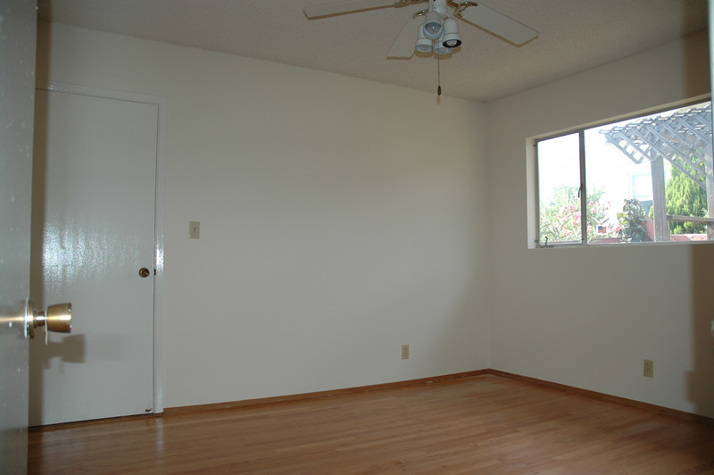 This bedroom also has garage access. Perfect for a home office.