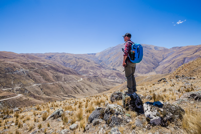 David Stock hiking in Salta, Argentina - Best Ultralight Backpacking Gear
