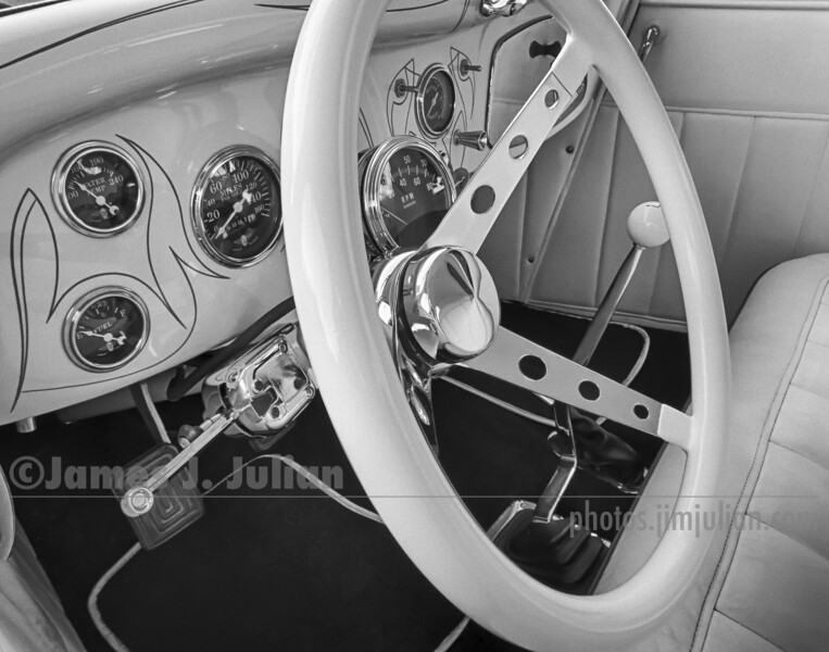 Antique Car Cockpit BW FE