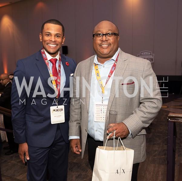Guy Lambert, Clarence Wright. Photo by Yasmin Holman. Washington Redskins Lunch 2019. Washington Hilton. 08.28.19