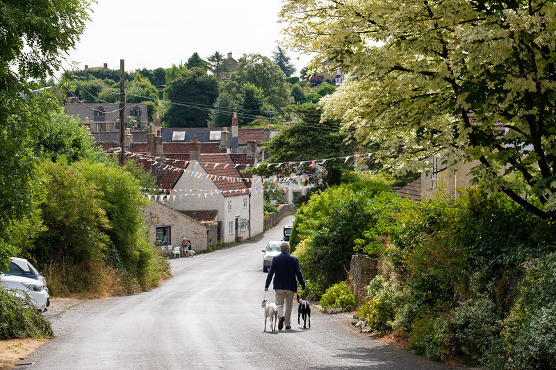 Country lane in the village of Nunney