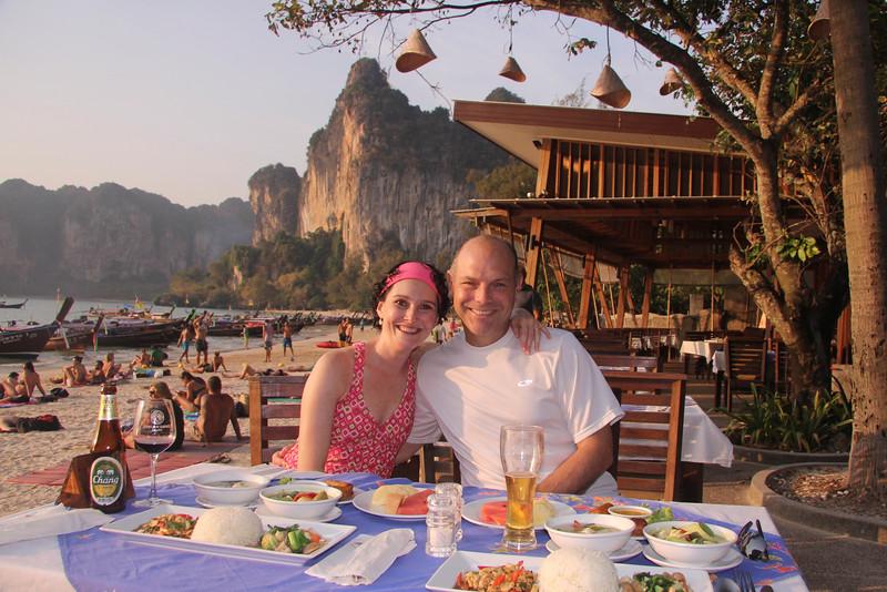 Dinner at Phra Nang beach, Railay