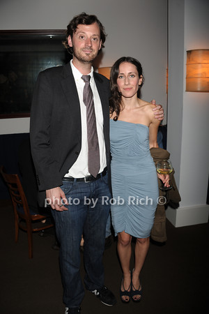HIFF director of programming David Nugent and Violet Gaynor attend the openig night party of the Hamptons International Film Festival at East Hampton Point (October 13, 2011)