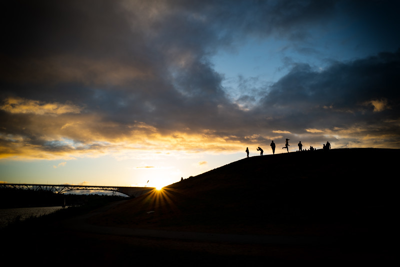 Silhouettes at Sunset at Gas Works Park