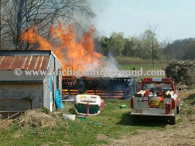 4/19/05 - Onondaga lumber fire, 4863 Walker Rd