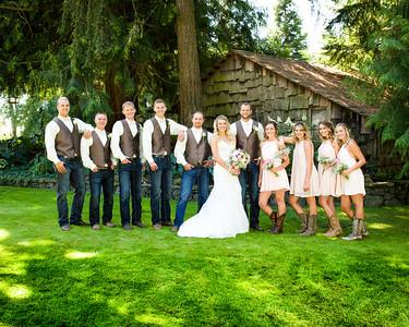 Jordan & Brielle, Bridal Party