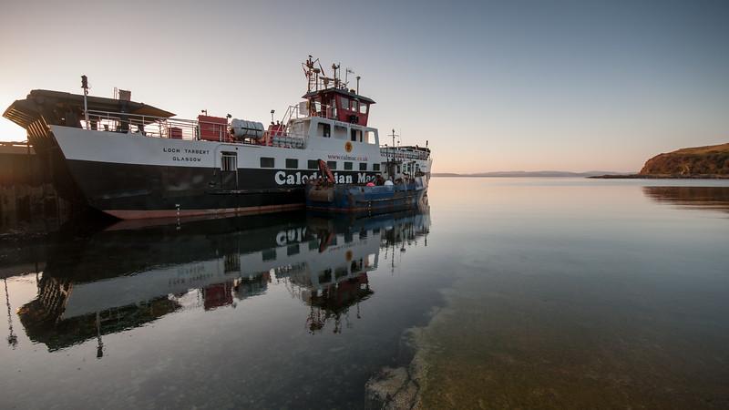 CalMac Ferry at Lochranza
