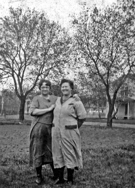 Margaret and Gena Wilcox in Flandreau, SD