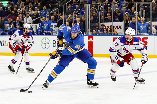 NHL: JAN 11 Rangers at Blues