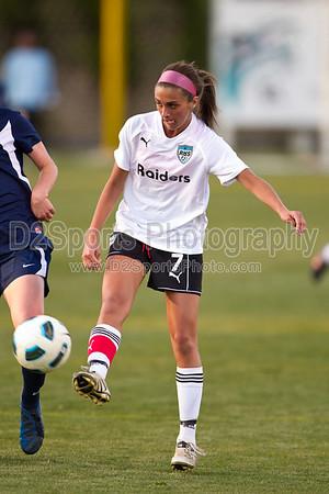 Mt Tabor Spartans vs Reagan Raiders Women's Varsity Soccer 4/10/2012
