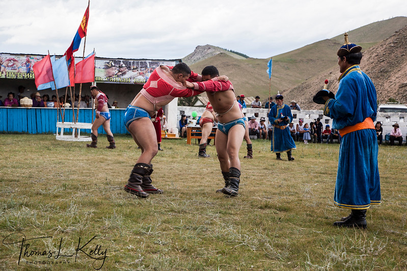 Wrestling at Naadam Festival