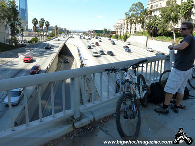 110 Freeway over pass - CicLAvia 2011 - Los Angeles, CA - October 9, 2011