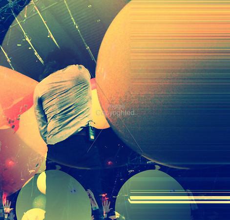 Wayne Coyne, The Flaming Lips, New Years Freakout 5. Night 2. Jan1,2012. Oklahoma City, Oklahoma