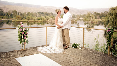 Scott and Frankie Backyard Wedding Ceremony and Reception at a Boise, Idaho Dam