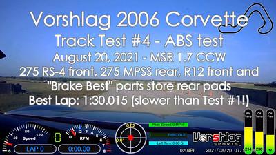 C6 Track Test #4, MSR-C, August 20, 2021