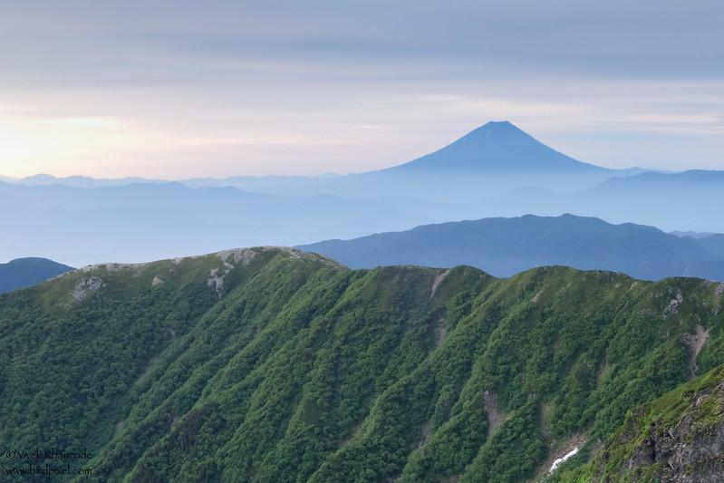 Mt. Fuji view from Mt. Kita-dake - Southern Alps, Japan