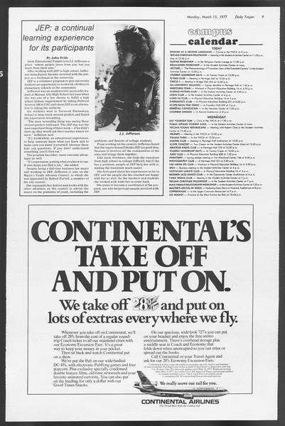Daily Trojan, Vol. 71, No. 24, March 15, 1977