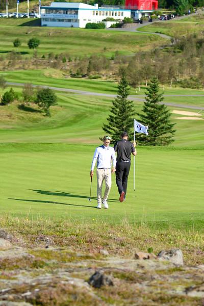 GM, Andri Már Guðmundsson og Sigurjón Arnarsson.  Íslandsmót í golfi 2019 - Grafarholt 2. keppnisdagur Mynd: seth@golf.is