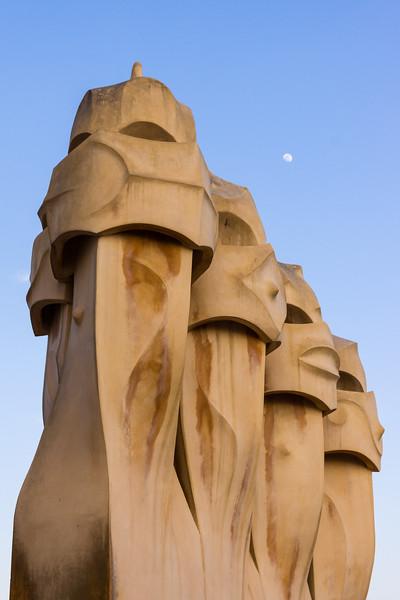 La Pedrera Chimneys, Barcelona, Spain