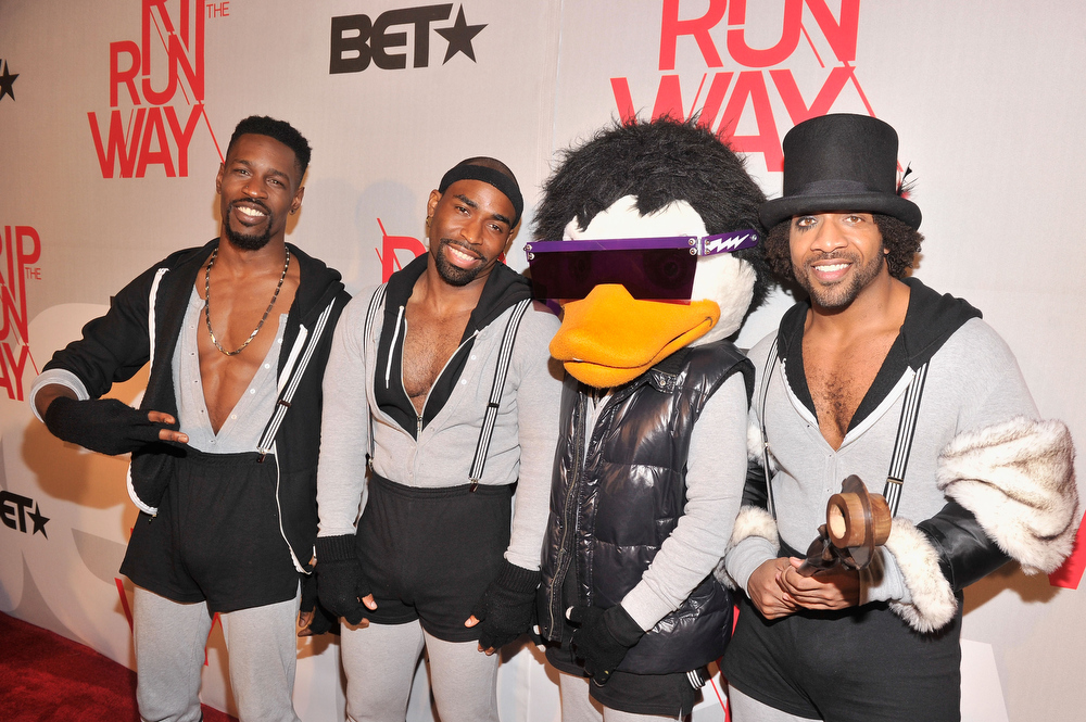 . Muscial group Watch The Duck attend BET\'s Rip The Runway 2013:Red Carpet at Hammerstein Ballroom on February 27, 2013 in New York City.  (Photo by Stephen Lovekin/Getty Images for BET\'s Rip The Runway)