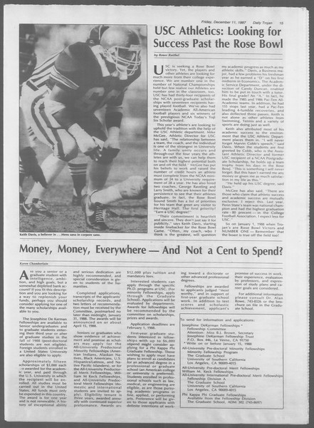 Daily Trojan, Vol. 105, No. 68, December 11, 1987
