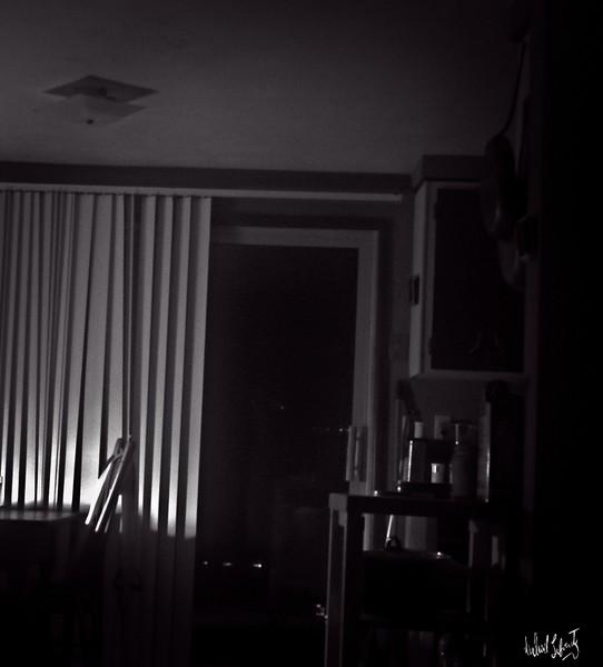 night light   b&w