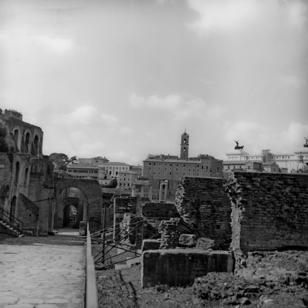 Architecture in the Roman Forum 5:Italy beyond 70mm. Photographs taken on 80mm (Medium format film)