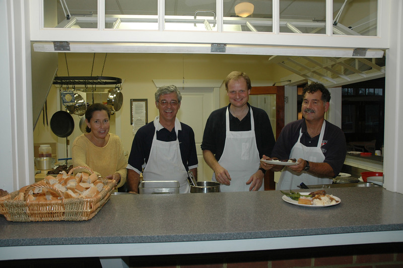 Chefs for dinner - Betsy Murphy, Ron Jenkins, John Hubbard and Frank Murphy.