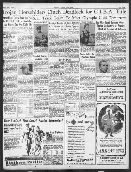 Daily Trojan, Vol. 27, No. 127, May 01, 1936