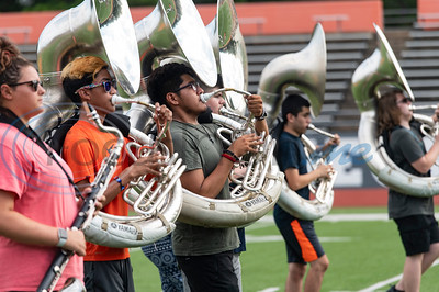 Mineola High School Marching Band Practice by Sarah A. Miller