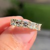 1.28ctw Asscher Cut Diamond 5-Stone Band, 18kt Yellow Gold 0
