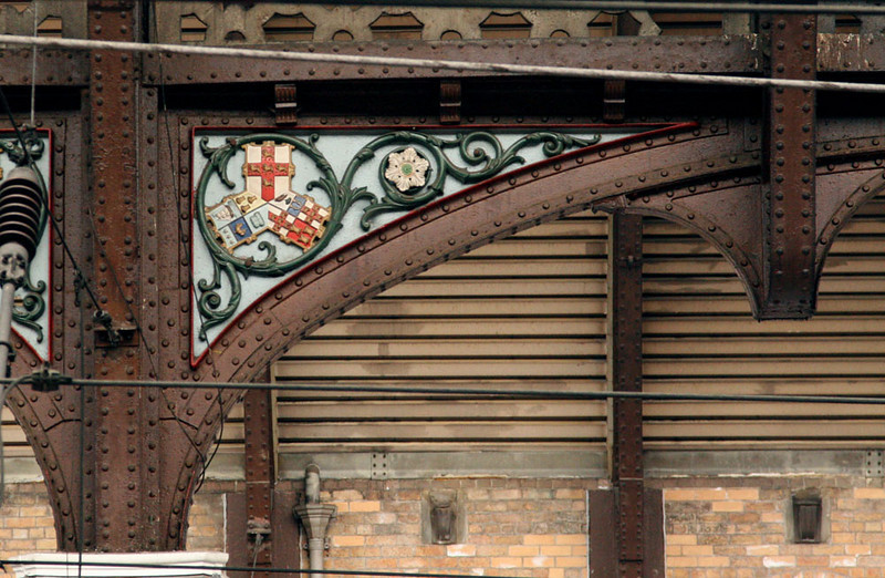 Victorian era trim in the York train station.