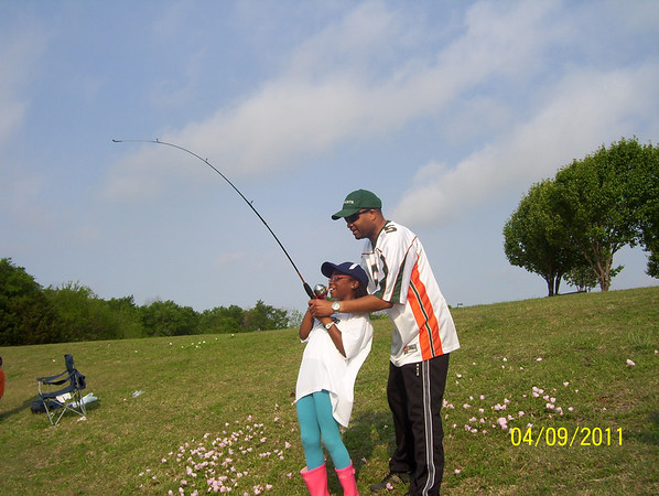 Makayla and Kaitlin's 1st time fishing