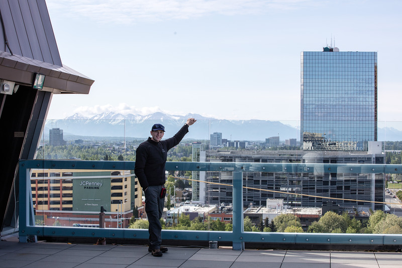 Top of the Hotel in Anchorage