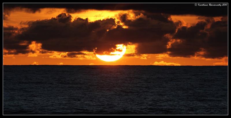 Sunset at Coronado Silver Strand Beach, San Diego County, California, February 2010