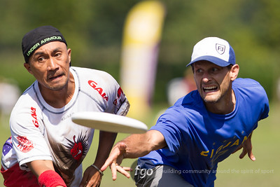 8-4-14 Canada Figjam v Australia Phat Chilly Masters Division First Round Matchup at WFDF 2014 World Ultimate Club Championships