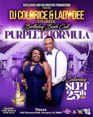 COLDRICE & DEE DEE PURPLE PHORMULA BIRTHDAY CELEBRATION 2021