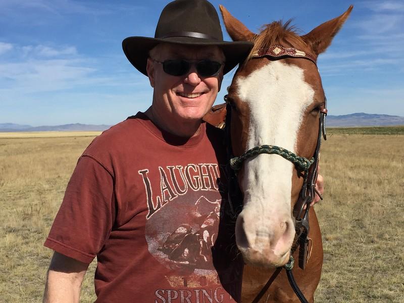 Making new friends at Grey Cliffs Ranch near Bozeman, Montana.