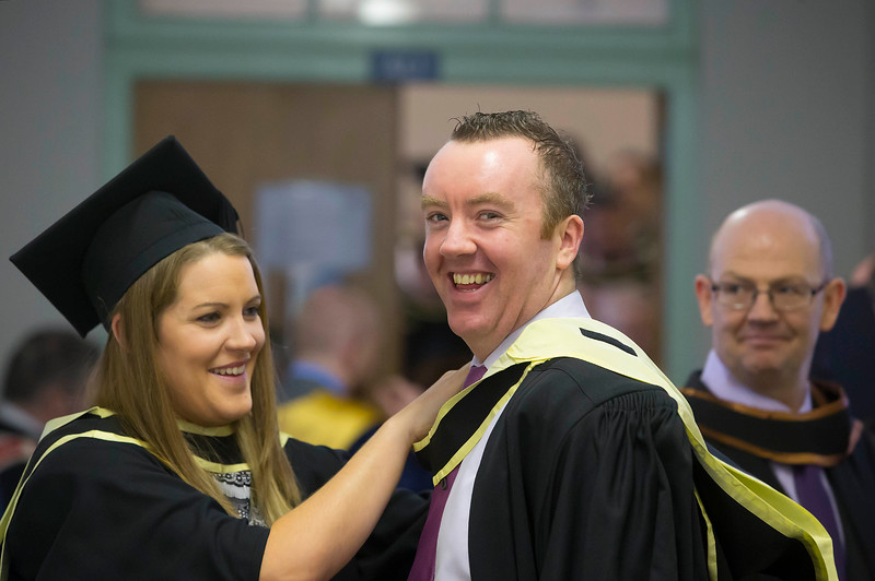 Waterford Institute Of Technology Conferring. Pictured at WIT Waterford Institute Of Technology Conferring are Noelle Connolly, Galway and Jackie Cahill, Tipperary who graduated Master of Arts in Exercise and Sport Psychology. Picture: Patrick Browne
