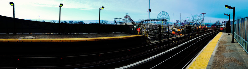 Coney Island Subway Panorama