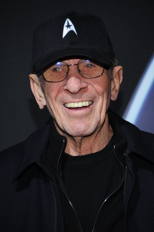". Leonard Nimoy arrives for Paramount Home Entertainment\'s ""Star Trek\"" DVD Release Party at the Griffith Observatory on November 16, 2009 in Los Angeles, California.  (Photo by Kristian Dowling/Getty Images)"